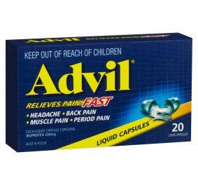 Advil, il soulage les douleurs musculaires